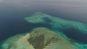 Arrecife de coral del paisaje marino en el mar almacen de metraje de vídeo