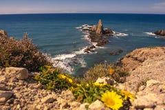 Arrecife de Las Sirenas, σε Cabo de Gata, Ισπανία Στοκ Φωτογραφίες