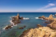 Arrecife de Las Sirenas, σε Cabo de Gata, Ισπανία στοκ εικόνες