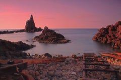 Arrecife de las Sirenas Almería Imagenes de archivo