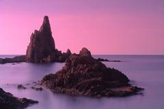 Arrecife de las Sirenas Almería Fotografía de archivo libre de regalías