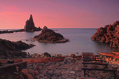 Arrecife De Las Sirenas Almeria obrazy stock