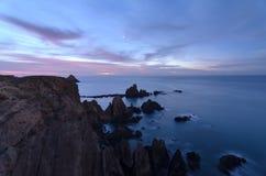 Arrecife DE Las zijn Sirenas een mooie ertsader in de kustlijn van Almeria Stock Afbeelding