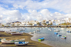 Arrecife i Lanzarote Charco de San Royaltyfri Fotografi