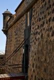 arrecife Lanzarote άμμου παλαιός πύργος κάστρων τοίχων castillo και Στοκ εικόνα με δικαίωμα ελεύθερης χρήσης