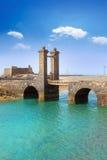 Arrecife Lanzarote κάστρο και γέφυρα Στοκ Φωτογραφία