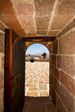 in arrecife lanzarote castillo DE las coloradas Spanje oud w Royalty-vrije Stock Afbeelding