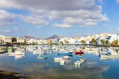 Arrecife in Lanzarote Charco de San Gines Stock Photography
