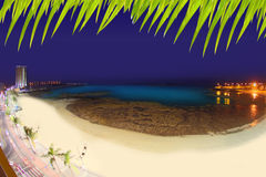 Arrecife Lanzarote Playa del Reducto παραλία Στοκ Εικόνες