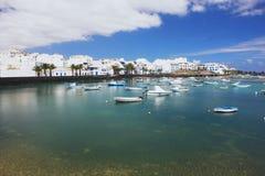 Arrecife, Lanzarote. View of fishing boats in Arrecife, Lanzarote Royalty Free Stock Photography