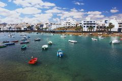Arrecife, Lanzarote. View of fishing boats in Arrecife, Lanzarote Royalty Free Stock Photo