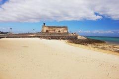 Arrecife, Lanzarote. Arrecife, view of the fortress Castillo de San Gabriel Stock Image