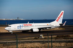ARRECIFE, SPAIN - DECEMBER 2, 2016: Boeing 737 - 800 of AirEuropa at L Stock Image