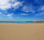 Arrecife strand Lanzarote Playa del Reducto Royaltyfri Fotografi