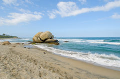Arrecifes Beach, Tayrona national park, Colombia Royalty Free Stock Image