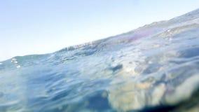 Arrecifes de coral en agua de mar baja almacen de metraje de vídeo
