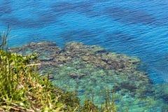 Arrecifes de coral en los acantilados de Jokin fotos de archivo libres de regalías