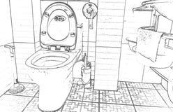 Arredamento del bagno Immagini Stock