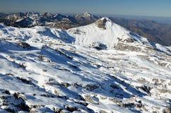 Arredores da estância de esqui Pierre Saint Martin Imagens de Stock