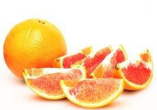 Arregle maravillosamente las rebanadas de naranja Foto de archivo