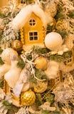 Arreglo acogedor de la Navidad imágenes de archivo libres de regalías