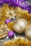 Arreglo brillante de la Navidad Imagen de archivo libre de regalías