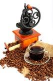 Arreglo con el café Foto de archivo