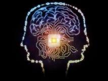 Aparición de la inteligencia artificial Foto de archivo libre de regalías