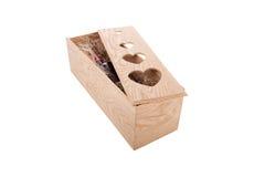 Arreglo de la caja del vino para el día de tarjetas del día de San Valentín Imagenes de archivo