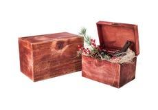 Arreglo de la caja del vino por Año Nuevo Foto de archivo