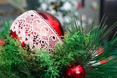 Arreglo de la Navidad en casa Imágenes de archivo libres de regalías