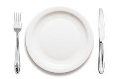 Arreglo de la placa de cena Fotos de archivo libres de regalías