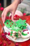 Arreglo de las galletas del día de fiesta Fotos de archivo libres de regalías