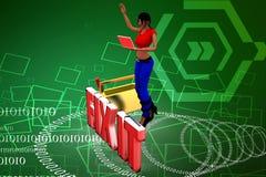 arreglo de las mujeres 3d él ejemplo Imagen de archivo
