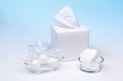 Arreglo de los productos de higiene personal 1 Foto de archivo libre de regalías