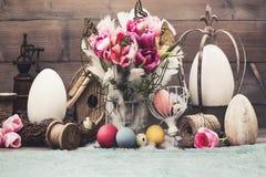 Arreglo de Pascua para las sesiones de foto Foto de archivo