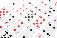 Arreglo de tarjetas que juegan Imagen de archivo