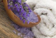 Arreglo del balneario de la lavanda Imagen de archivo libre de regalías