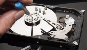 Arreglo del disco duro Imagen de archivo