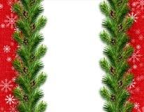 Arreglo del invierno o de la Navidad con los copos de nieve Imagen de archivo libre de regalías