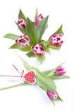 Arreglo floral con los tulipanes Foto de archivo