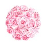 Arreglo floral de la acuarela Foto de archivo libre de regalías
