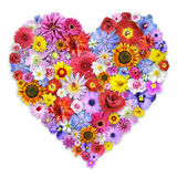 Arreglo floral en forma de corazón grande Fotos de archivo libres de regalías