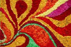 Arreglo hermoso de la cama de flor Foto de archivo