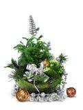 Arreglo moderno de la decoración de la Navidad Foto de archivo libre de regalías
