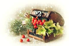 Arreglo natural de la Navidad Fotografía de archivo