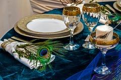 Arreglo para la cena de boda party-22 foto de archivo libre de regalías