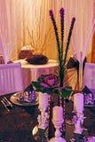 Arranjament para una cena romántica -7 Imágenes de archivo libres de regalías