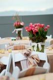 Arreglos de la boda Imagen de archivo libre de regalías