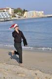 Arremetida do negócio de Christmass fotografia de stock royalty free